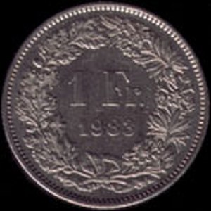 Franc - 1 Swiss franc 1983 reverse