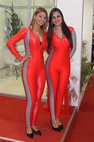 Sertãozinho - Promotional models at the Fenasucro fair, 2010