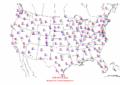 2002-10-06 Max-min Temperature Map NOAA.png