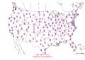 2006-06-19 Max-min Temperature Map NOAA.png