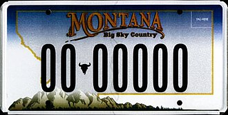 Transportation in Montana - Car license plate design issued in Montana between 2006 and 2009