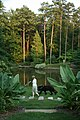 2008-07-15 Woman with dog on path at Duke Gardens.jpg