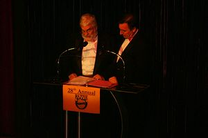Golden Raspberry Awards - John J. B. Wilson at the 28th Golden Raspberry Awards in 2008.