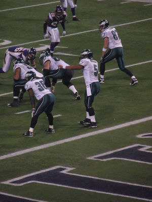 Brian Westbrook - Westbrook (left) and Donovan McNabb (right) in 2009 NFC Wild Card game.