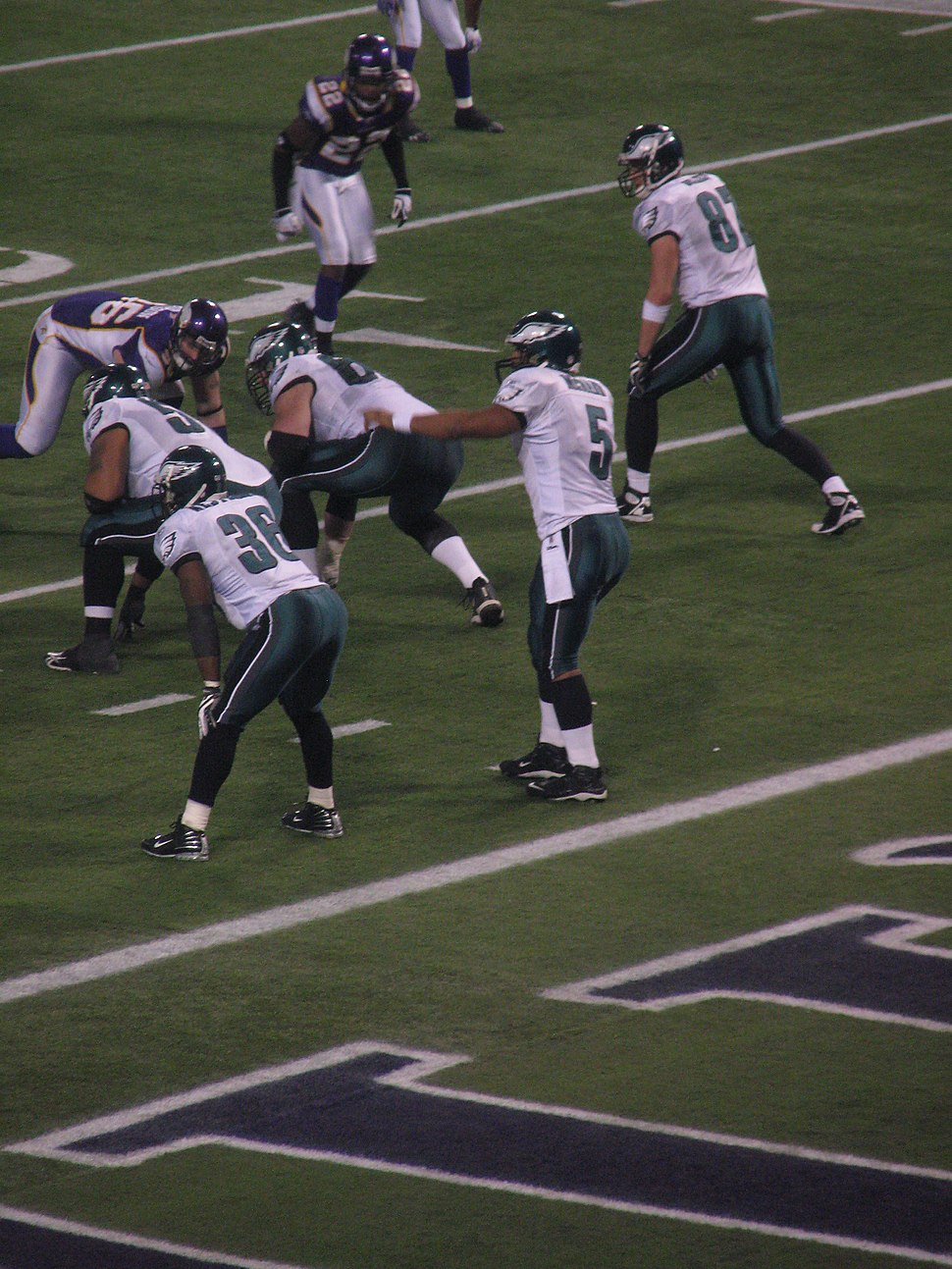 20090104 Donovan McNabb and Brian Westbrook