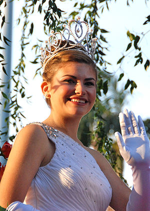 my photo of the 2010 Rose Parade Queen Natalie...