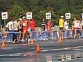 2013 IAAF World Championship in Moscow 50 km Men Walk Tianfeng SI, Andrés CHOCHO and Adrian BLOCKI.JPG