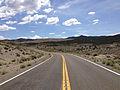 2014-07-30 11 59 08 View east along Nevada State Route 377 (Manhattan Road) about 5.0 miles east of Nevada State Route 376 (Tonopah-Austin Road) near Manhattan, Nevada.JPG