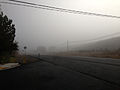 2014-09-28 07 57 14 Fog on Nevada State Route 227 (Lamoille Highway) near South 9th Street in Elko, Nevada.JPG