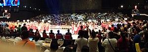 2014–15 PBA season - Image: 2014 15 PBA opening ceremonies Parade of teams