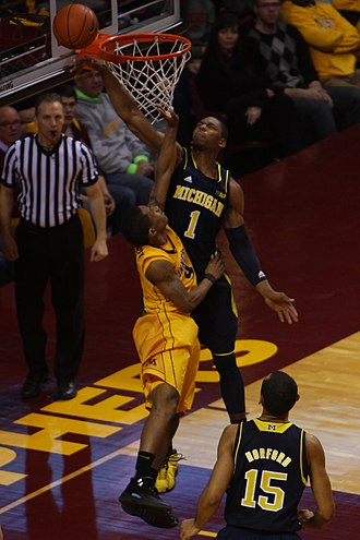 Glenn Robinson III - Robinson was injured making this block against Deandre Mathieu