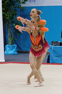 2014 Acrobatic Gymnastics World Championships - Women's pair - Finals - Belarus 02.jpg