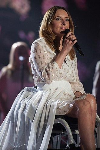 Poland in the Eurovision Song Contest 2015 - Monika Kuszyńska at a dress rehearsal for the second semi-final