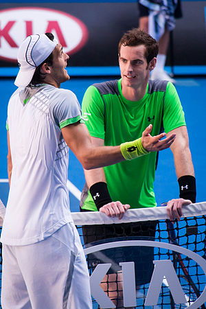 João Sousa - Sousa after the 2015 Australian Open third round match with Andy Murray