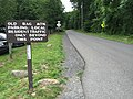 2017-06-21 13 36 42 View west along Nethers Road (Virginia State Secondary Route 600) at Pine Hill Road (Virginia State Secondary Route 707) and the Old Rag Mountain parking lot in Nethers, Madison County, Virginia.jpg