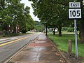 2017-07-23 14 16 36 View east along West Virginia State Route 105 (Pennsylvania Avenue) at West Virginia State Route 2 (Main Street) in Weirton, Hancock County, West Virginia.jpg