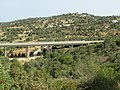 2017-08-24 A22-IP1 motorway bridge, Paderne Castle.JPG