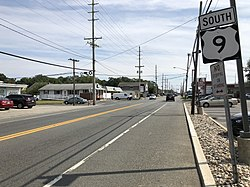 2018-09-19 13 26 50 View south along U.S. Route 9 (Atlantic City Boulevard) just south of Pacific Avenue in Beachwood, Ocean County, New Jersey.jpg