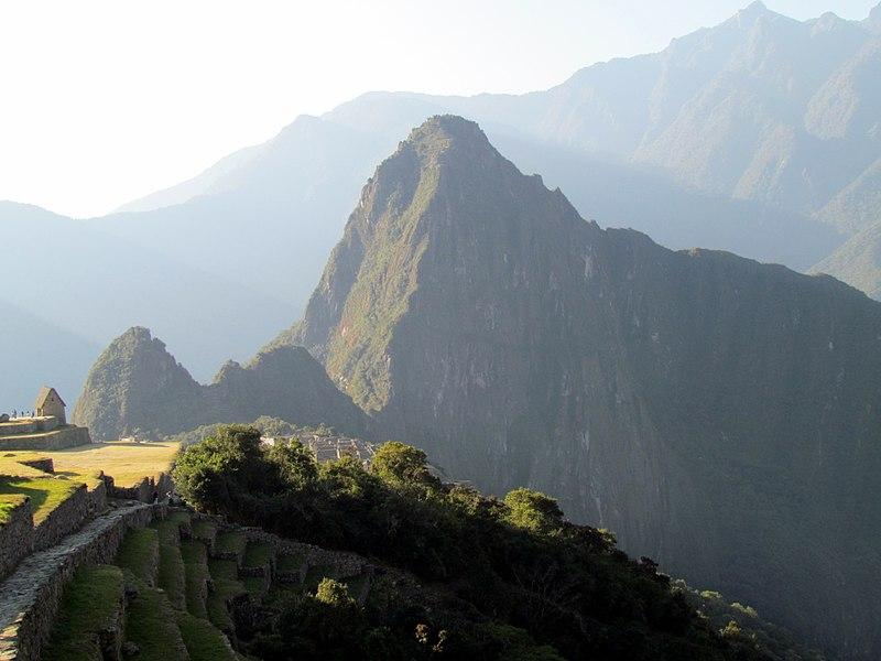 File:219 View from Inca Trail to Sun Gate Machu Picchu Peru 2487 (14977556459).jpg