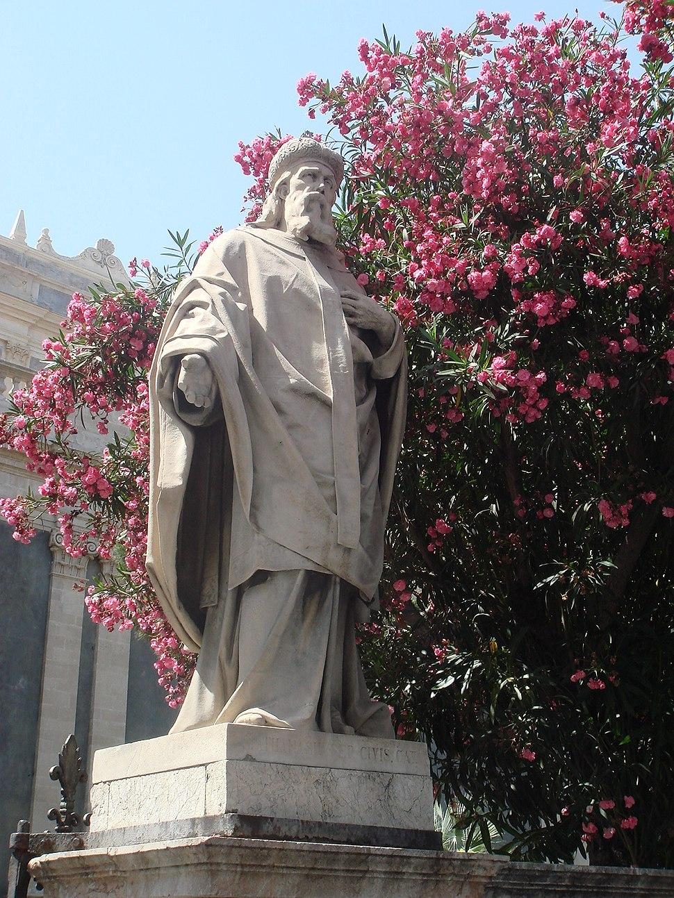 2896 - Catania - Cattedrale - G. Nicoli - S. Atanasio, nella ''Floretta'' (giardino) - Foto Giovanni Dall'Orto, 4-July-2008