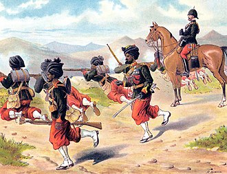 129th Duke of Connaught's Own Baluchis - Image: 29TH BOMBAY NATIVE INFANTRY on Firing Exercise 1885 Simkin