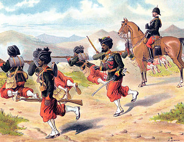 29TH BOMBAY NATIVE INFANTRY on Firing Exercise 1885 Simkin