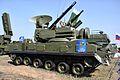 2S6M1 Tunguska-M1 SAM-system at MAKS-2011 - side.jpg
