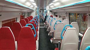 Gatwick Express - Interior of a Gatwick Express branded Class 387