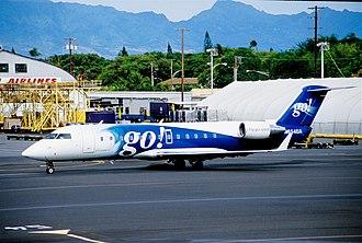 Go! (airline) - A CRJ-200 showing Go!'s original livery