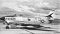 497th Fighter-Interceptor Squadron North American F-86D-40-NA Sabre 52-3698 1955.jpg