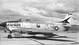 497th Combat Training Flight - North American F-86D Sabre 52-3698 at Geiger Field in 1955