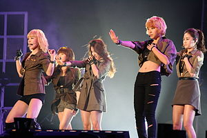 4Minute - 4Minute performing at the 2010 Asia Song Festival.
