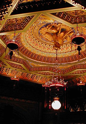 5th Avenue Theatre - Dragon and Pearl ceiling centerpiece.