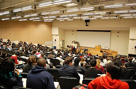 A lecture hall at Baruch College, New York City, USA 5th Floor Lecture Hall.jpg