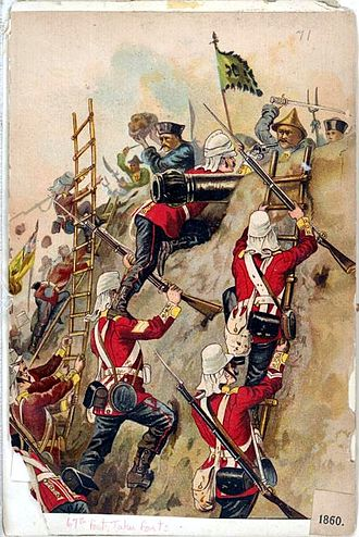 Taku Forts - 67th Foot of the British Army taking the Taku Forts in 1860.