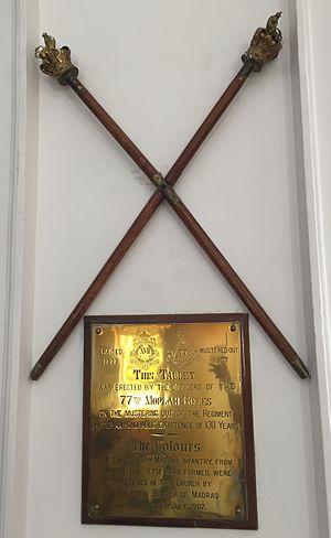 77th Moplah Rifles - Image: 77th Moplah Rifles Colours 01