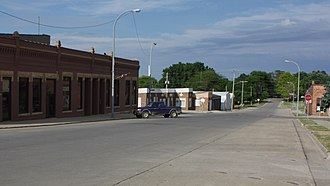 Schaller, Iowa - Eastward view along 2nd St.
