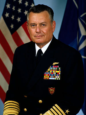 William N. Small - Official portrait of Admiral William N. Small, 1983