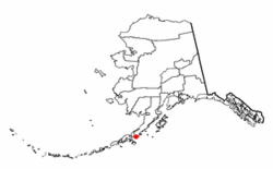 Location of Apex, Alaska