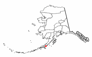 Perryville, Alaska - Image: AK Map doton Perryville