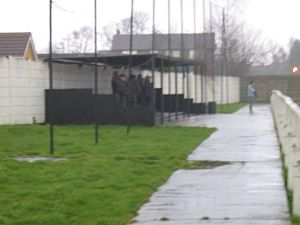 Armthorpe Welfare F.C. - Image: ARMTHORPE WELFARE FC V GLAPWELL FC 11 02 2006 NCEL PREMIER DIVISION park close stand