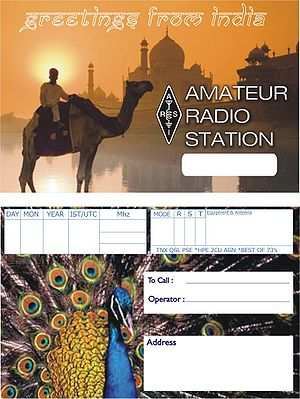 Call signs in India - The generic QSL card created by ARSI for amateur radio operators in India