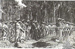 2/4th Pioneer Battalion (Australia) - Troops from the 2/4th parade at Wongabel, Queensland, in May 1944