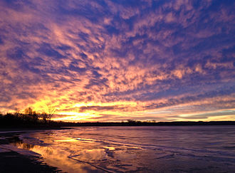 Shenango River Lake - Dawn at Shenango River Lake, January 2014