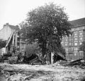 A Mihálkovics-telep bontása, jobbra a Mihálkovics utca házsora. Fortepan 60744.jpg