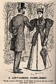 A fashionably dressed lady meets her doctor in the park and Wellcome V0011602.jpg