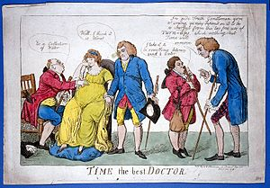 A group of physicians wrongly diagnosing the case of a pregn Wellcome L0016884.jpg
