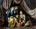 A physician and a surgeon attending to a woman patient. Oil Wellcome L0015581.jpg
