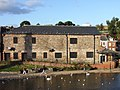 A pigeon infested building beside the river Exe - geograph.org.uk - 1590414.jpg