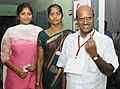 A voter showing mark of indelible ink after casting his vote, at a polling booth, during the Puducherry Assembly Election on May 16, 2016.jpg